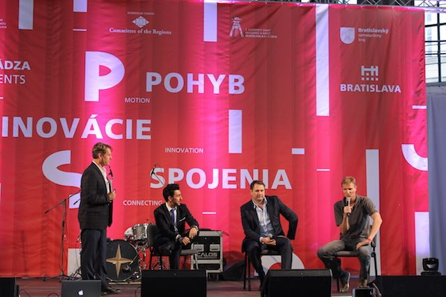 Grandees from HTT (Hyperloop Transportation Technologies) take to the stage in Bratislava to discuss the visionary ­Hyperloop project.