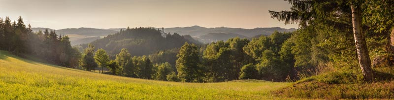 Landscape near Rapottenstein Castle: never captured, it is one of the best preserved in the country.Photo: ©Waldviertel Tourismus/ Christoph Kerschbaum