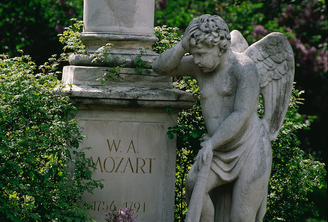 """In Vienna you have to die to really live it up. But then you live for a long time,"" as Austria's legendary actor Helmut Qualtinger quipped in 1986. This is the elaborate gravestone of Mozart (who never got a funeral). © Österreich Werbung"