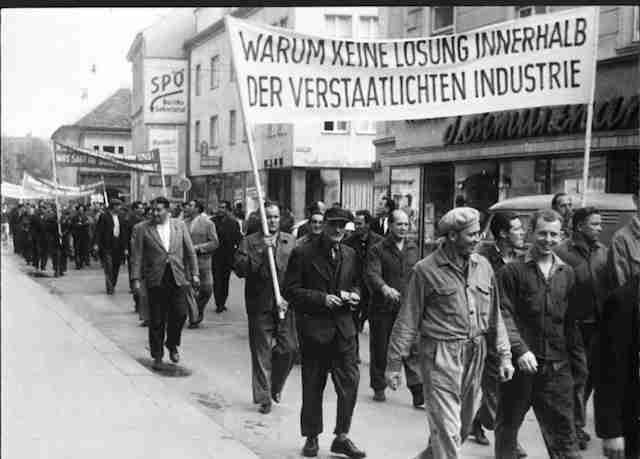 Arbeiterdemonstration 1965