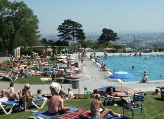 swimming in Vienna