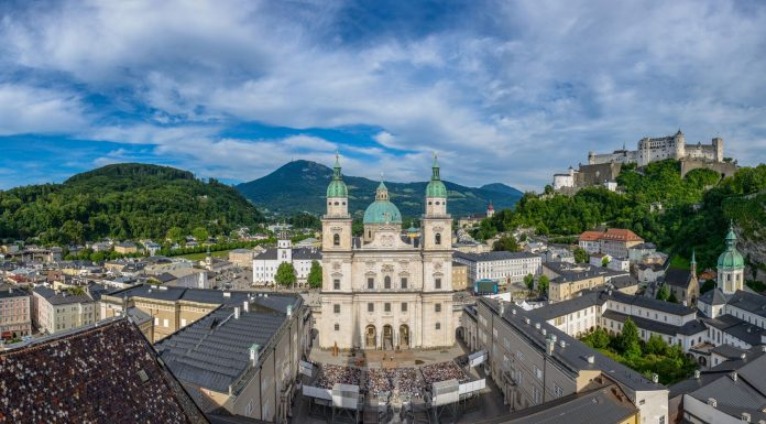 tourist shot of Salzburg