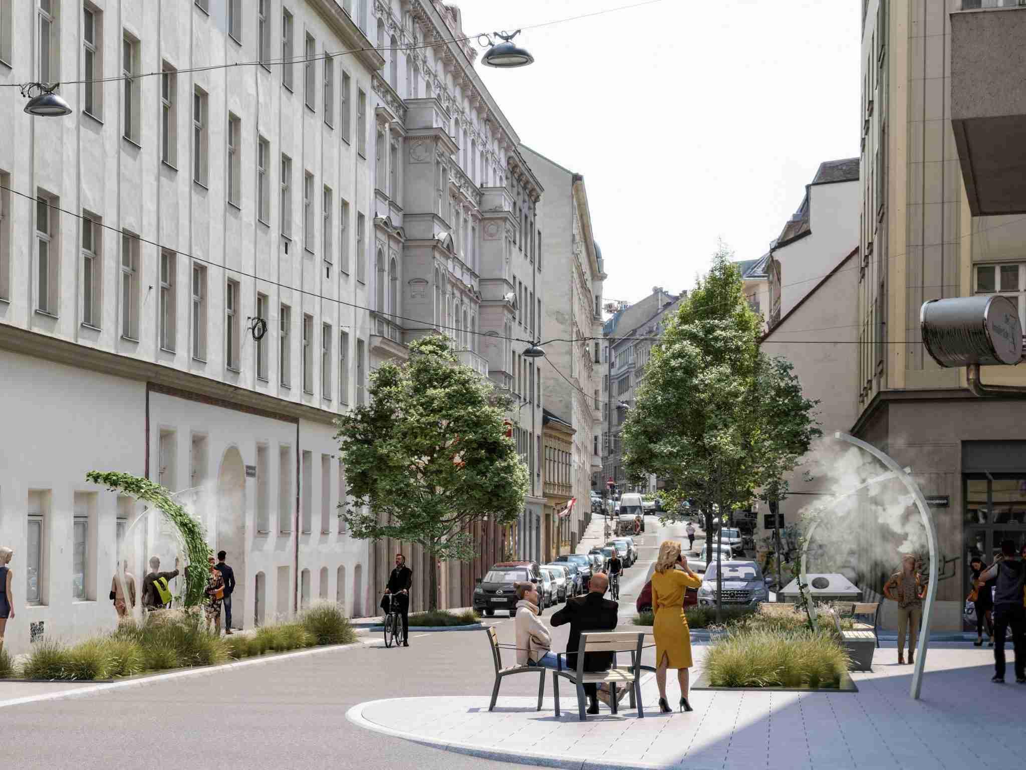 Vienna's new mist cooling system - Sommerspritzer
