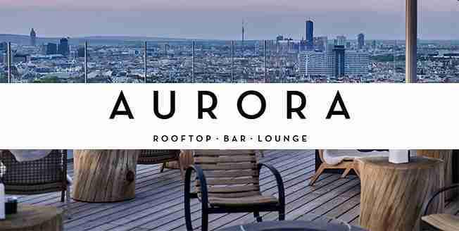 Cocktails at Aurora Rooftop Bar