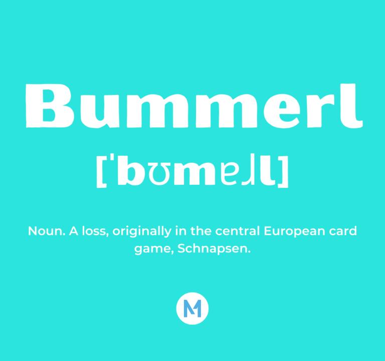 <i>Word of the Week:</i> Bummerl [ˈbʊmɐɺl]
