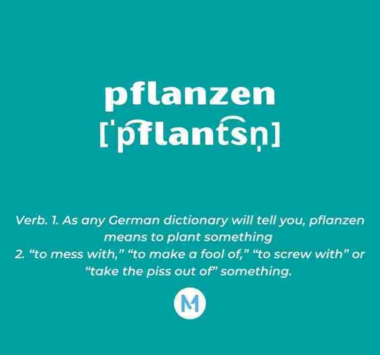 <i>Word of the Week:</i> pflanzen [ˈp͡flant͡sn̩]