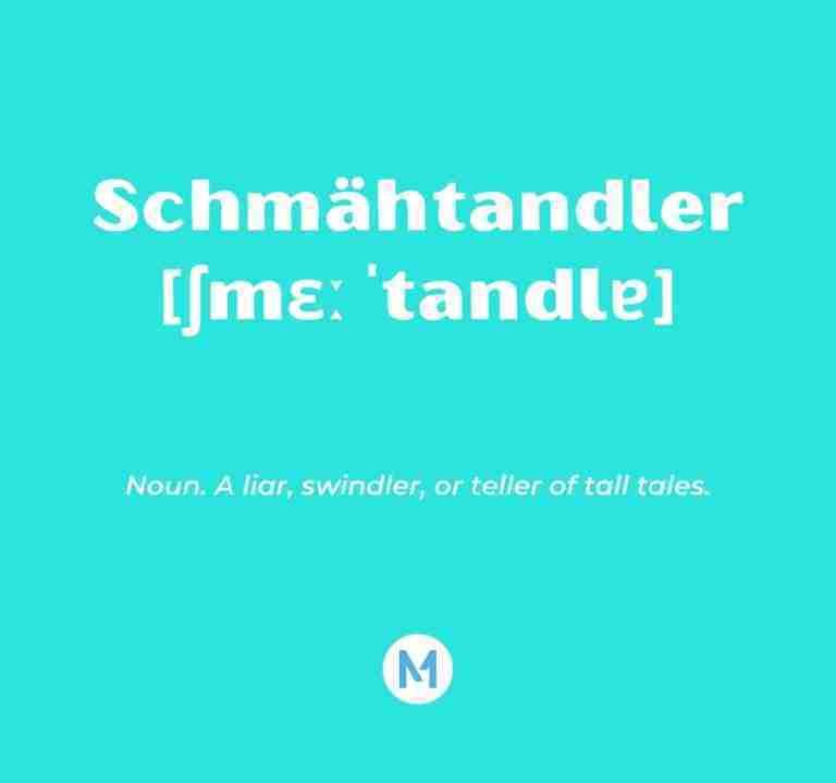 <i>Word of the Week:</i> Schmähtandler [ʃmɛːˈtandlɐ]