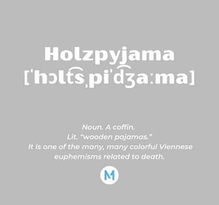 <i>Word of the Week:</i> Holzpyjama [ˈhɔlt͡sˌpiˈd͡ʒaːma]