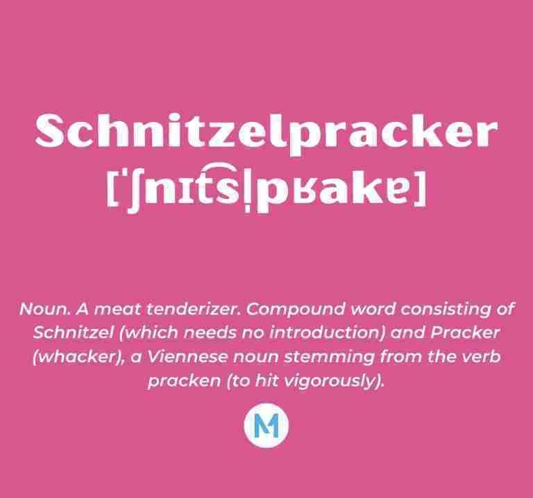 <i>Word of the Week:</i> Schnitzelpracker [ˈʃnɪt͡sl̩pʁakɐ]