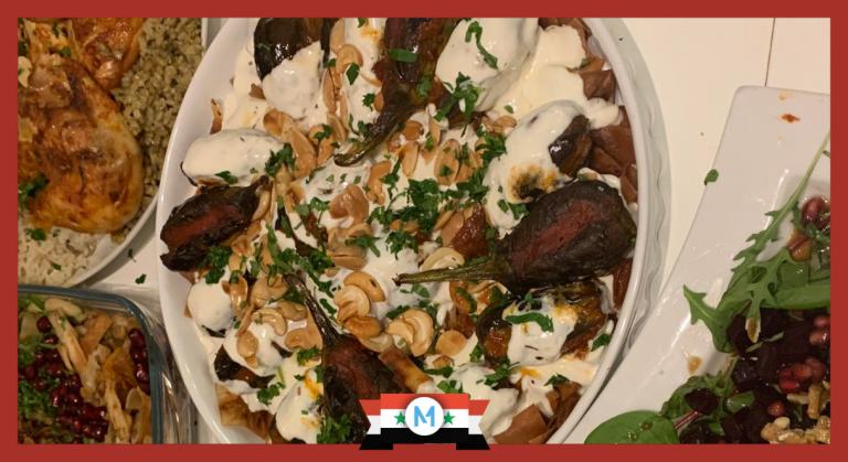 How to Make Fattet Al-Makdous/Eggplant Fatteh