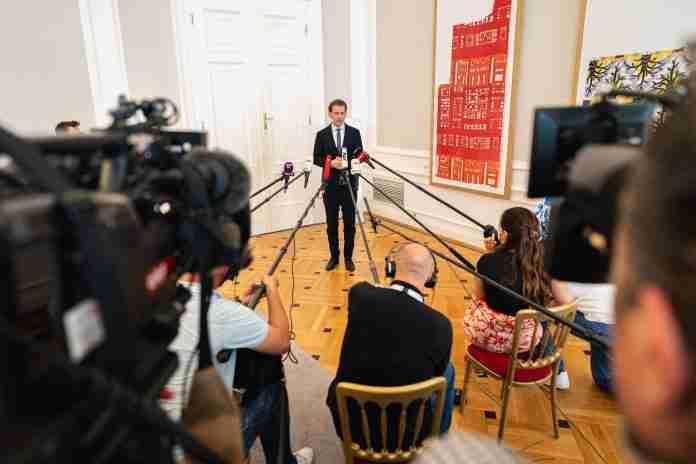 Sebastian Kurz press conference