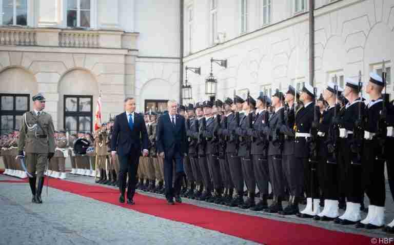 Van Der Bellen on Official Visit to Warsaw