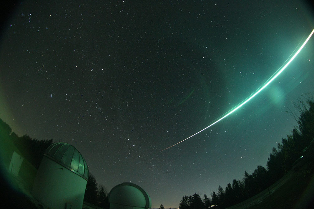 A meteor enters the atmosphere over Central Europe at 4:46 am on Nov 19, 2020