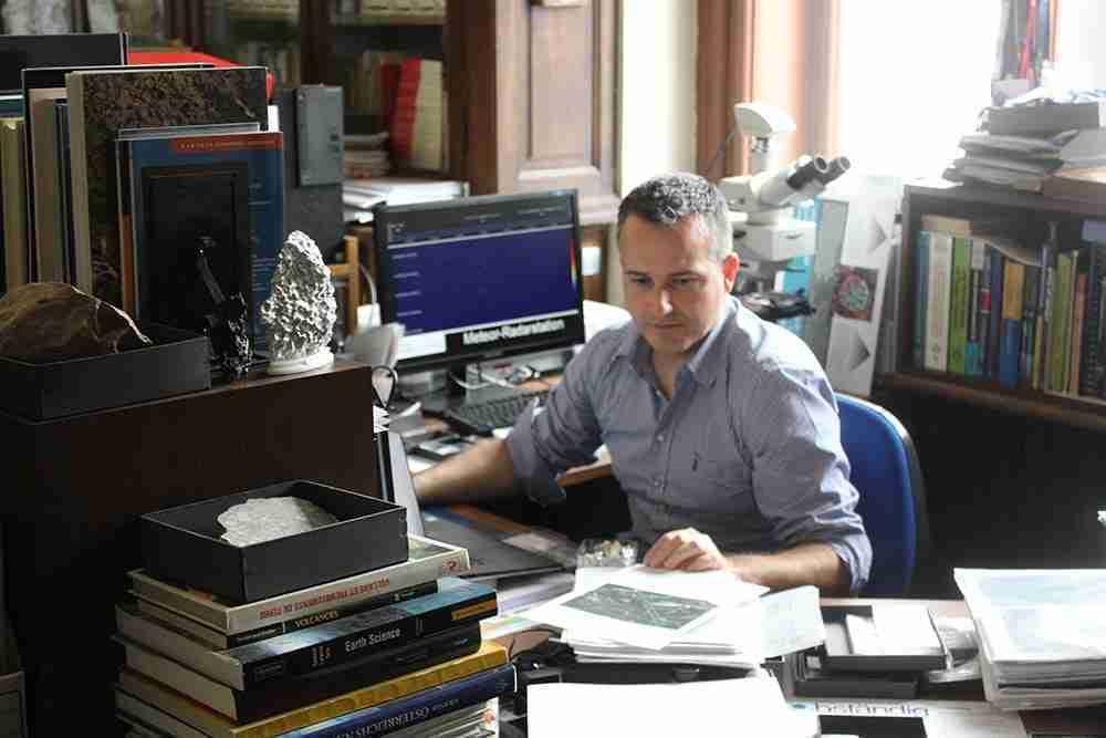Ludovic Ferrière at his desk