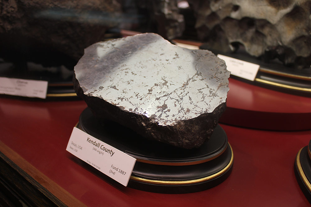 A meteorite on display at Vienna's Natural History Museum